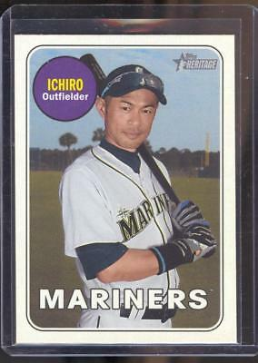 2018 Topps Heritage High Series - SP - Color Swap - Variation - Ichiro