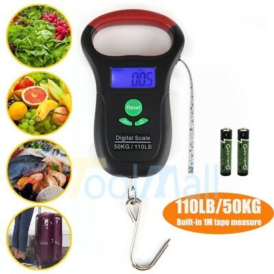 110LB/50KG Portable Digital Electronic Scale Luggage/Fishing Hook Hanging Weight