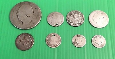 Foreign Silver Coin Junk Drawer Lot- Lot of 8