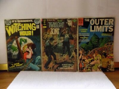 DC,Gold Key,Dell 3 lot book Twilight Zone,Witching Hour,Silver Age Outer Limits