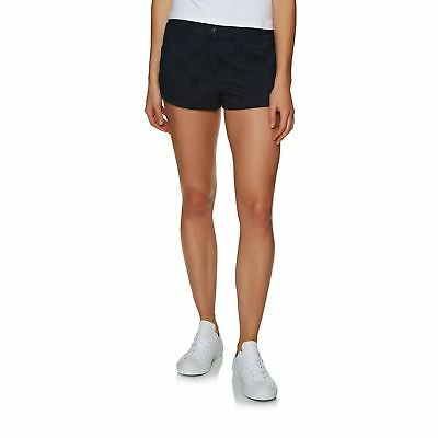 Superdry Broderie Chino Womens Shorts Walk - Deep Navy All Sizes