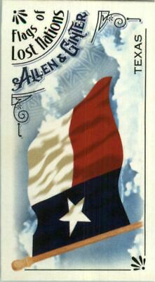 2018 Topps Allen and Ginter Mini Flags of Lost Nations #FLN22 Texas