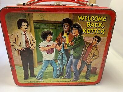 Vintage  1977 Welcome Back Kotter John Travolta Lunch Box With Thermos