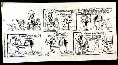 Rare Tumbleweeds Original Sunday Comic Strip 1982 By Tom K. Ryan