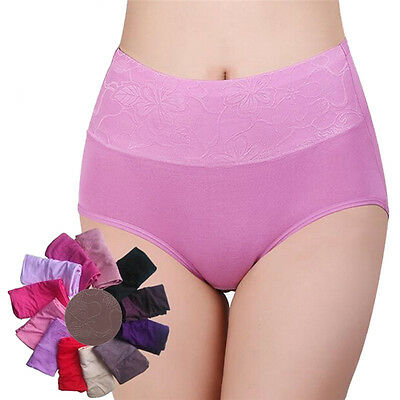 Women HighWaist Breathable Panties Underwear Body Shaping Briefs Plus SizeS*