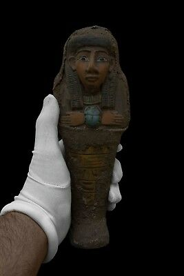 Ancient EGYPT EGYPTIAN STATUE ANTIQUE Shabti Ushabti Mummy SCARAB STONE 1479 BC