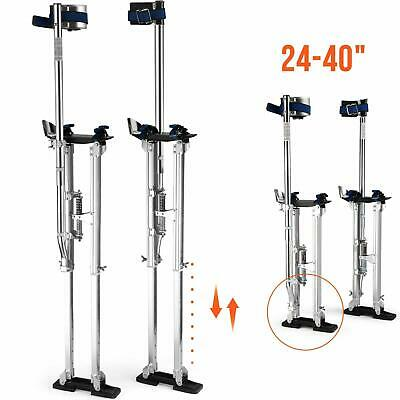"24"" - 40"" Drywall Stilts Aluminum Tool Painters Walking Taping Finishing Silver"