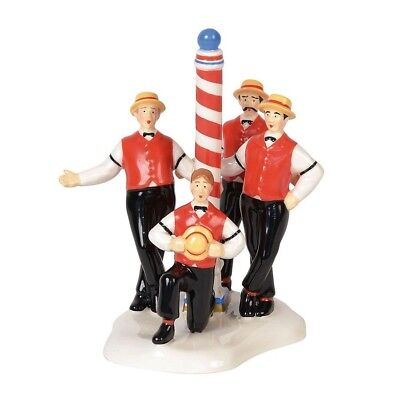 Department 56 Snow Village Flattops Barbershop Quartet Figurine 6000650 New
