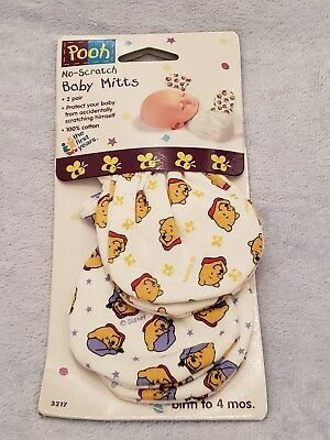 Pooh No Scratch Baby Mitts