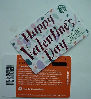 STARBUCKS RECYCLABLE CARD 2019 HAPPY VALENTINE'S DAY 2018 #6162 w/ LINE ON BACK
