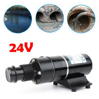 24V Macerator Sewerage Waste Water Pump For Yacht Toilet Marine 45L/min 168W AU