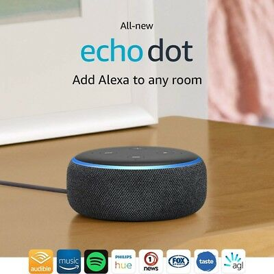 HURRY NOW All-new Echo Dot (3rd Gen) –Smart speaker with Alexa - Charcoal Fabric