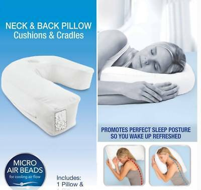 U Shaped Comfort Side Sleeper Neck Pillow Cushion Sleep Support Pain Relief