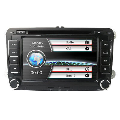 DAB+ Autoradio Navi Für VW Golf Polo Caddy Passat Jetta Seat Touran Skoda DTV-IN