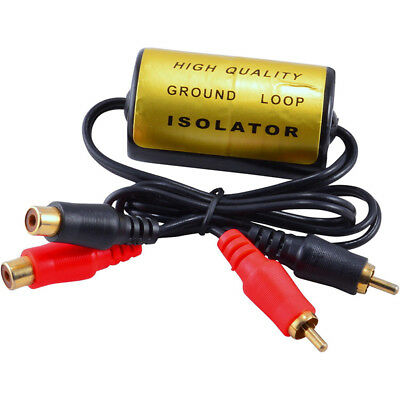 RCA Audio Noise Filter Suppressor Ground Loop Isolator for Car and Home Stereo B