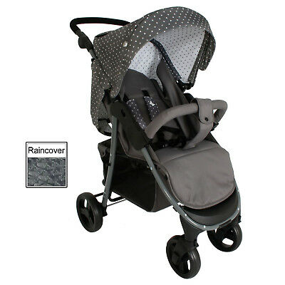 New My Babiie Grey Triangles Mb30 Katie Piper Pushchair Stroller With Raincover
