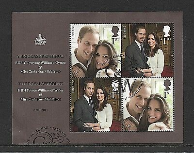 GB Stamps 2011 'Royal Wedding' MS3180 - Fine used