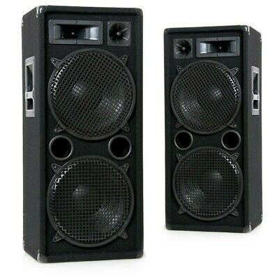 2000W Lautsprecher Paar PA Boxen Karaoke Anlage Musik Party Big Light