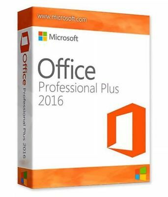 Microsoft Office 2016 Pro Professional Plus 32/64 Bit | Windows PC | License Key