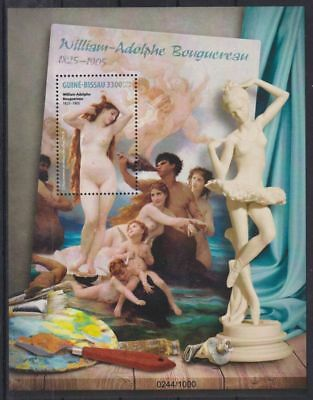 T203. Guinea-Bissau - MNH - 2016 - Art - Paintings - Nude - Bl.