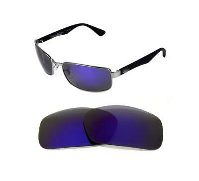 491f1e9a4a5 NEW POLARIZED REPLACEMENT PURPLE LENS FIT RAY BAN RB3478 63mm SUNGLASSES
