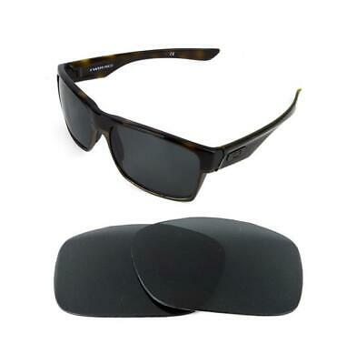 6d5657b3b056 New Polarized Black Replacement Lens For Oakley Two Face Xl Sunglasses