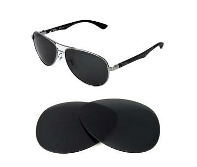 8e0070c7a New Polarized Black Replacement Lens Fit Ray Ban Tech 8313 58Mm Sunglasses