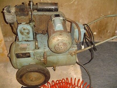 Wheeled Air Industrial Ltd Antique Used electric air compressor, working order