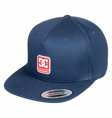 Dc Shoes Mens Baseball Cap.new Snapdragger Flat Peak Adjustable Navy Hat 9S 59 B