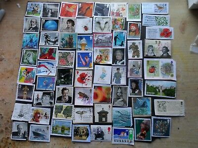 g.b.modern used commorative stamps  on & off paper space fillers lot 2