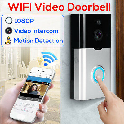 1080P 128G HD Video Intercom Wifi Motion Security 2 Way Talk LED Smart Doorbell