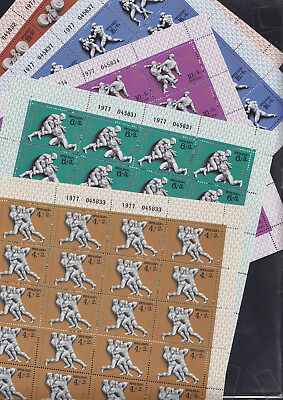 069543 CCCP Russia 4602-06 Sheet Set Olympic Games Olympia ** MNH Year 1977
