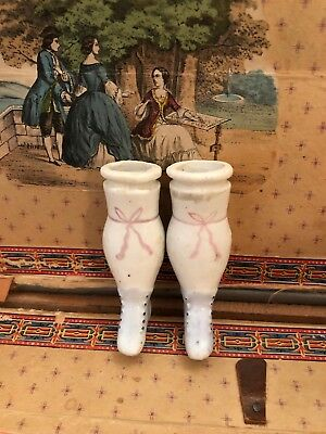 ~ Wonderful!!! Antique 1800's China Doll Lower Legs Incised 5 ~