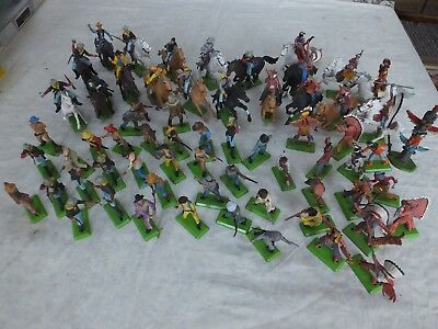 Vintage Britains Deetail Timpo Cowboys/Indians//Cavalry-Joblot over 75 tems