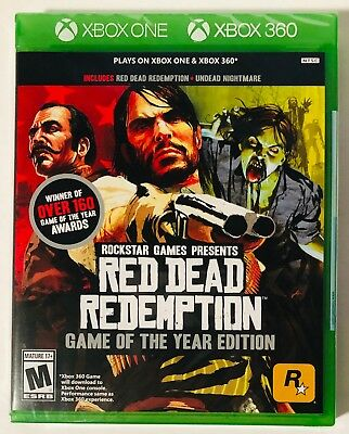 Red Dead Redemption: Game of the Year Edition  (Xbox One & Xbox 360) BRAND NEW