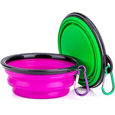 Collapsible Silicone Dog Bowl, Food Grade Silicone,BPA Free Foldable Expandable