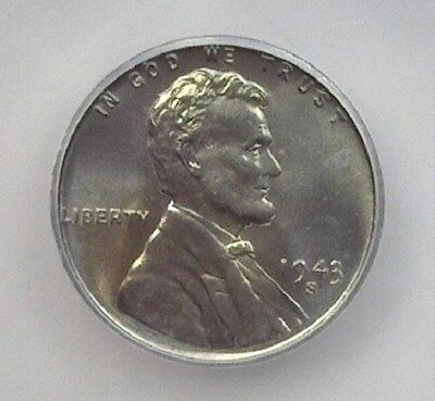 1943-S Lincoln Wheat Cent  Icg Ms67 Price Guide Valued At $240