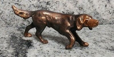 Antique / Vintage Cast Lead Metal dog Pointer Retriever Statue Figure