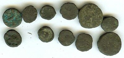 Ancient Coins Mixture Of Different Rulers & Denomination 11 Coin Collection