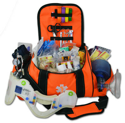 Lightning X Deluxe Stocked Large EMT First Aid Trauma Bag w/ Emergency Medical S