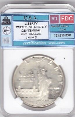 Liberty Statue Of Liberty Centennial One Dollar 1986.s Argent/silver