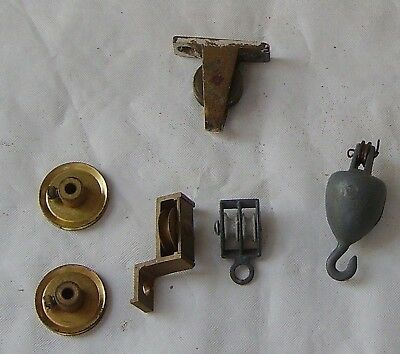 Small Craft Modelmaking Engineer 6 Items Brass Pulleys