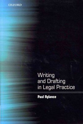 Writing and Drafting in Legal Practice by Paul Rylance 9780199589890