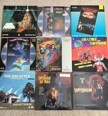 Lot Laserdisc Star Wars Superman Ghost Chase Purple People Eater Sci Fi Action