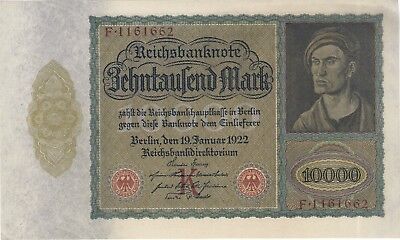 1922 10,000 Mark Germany Currency Unc German Vampire Note Bill Banknote Cash