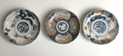 3x Japanese Imari Ware Bowls As Is