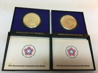 1974 American Revolution Bicentennial Medals (2 of them) - John Adams