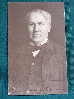 Thomas Edison & Edison Business Phonograph - antique advertising card