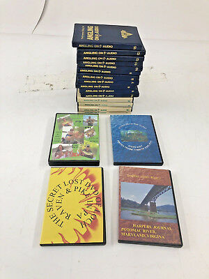 15 Vintage FISHING AUDIO TAPE LOT instruction guide angling angler book NAFC fly
