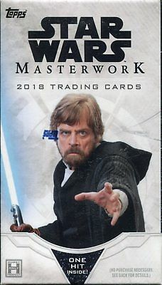 Star Wars Masterwork 2018 Factory Sealed Trading Card Mini Box